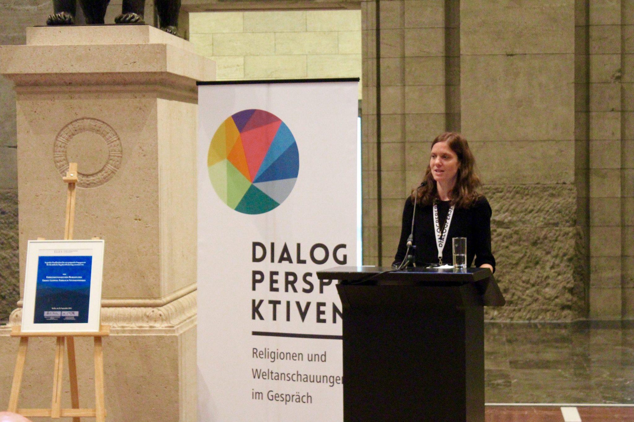 Dialogperspektiven-Auftakt: Johanna Korneli. Bild: Jonas Fegert