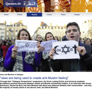 """Jews are being used to create anti-Muslim feeling"" -quatara.de"